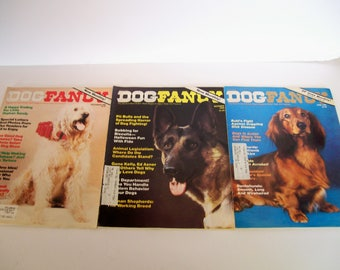 Dog Fancy Magazine June, October, December 1980