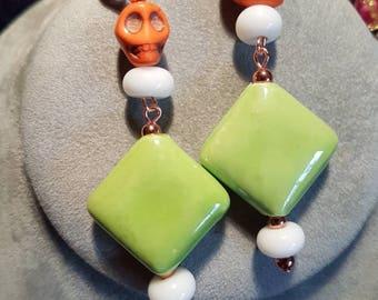 Happy Halloween beaded earrings