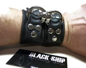 Ready to Ship - Medium Swivel Wrist-Hand Cuff Set - Vegan Bondage Gear Restraint