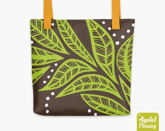 15x15 Inch Tote Bag, Graphic Tote Bag, Tribal Tote, Colorful Tote, Tribal Print Tote, Nature Flower Market Bag, Library Bag, Funky Tote Bag