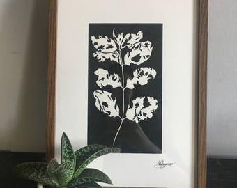Hand Printed Leaf