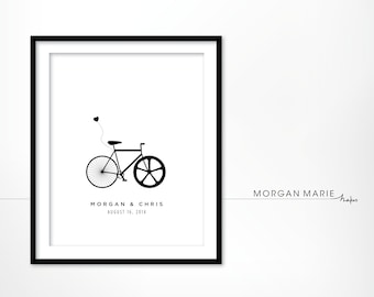 Custom Wedding Bike Print