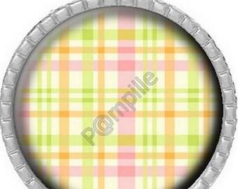 Cabochon pendant - Small summer pattern (614)