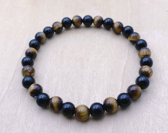 Tiger Eye Bracelet | Gemstone Bracelet | Stacking Bracelet | Stretch Bracelet | Yoga Bracelet | Mens Beaded Bracelet | Womens Bracelet