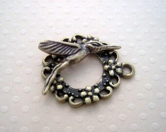 Bronze clasp T bird 30x25mm - FB 0436