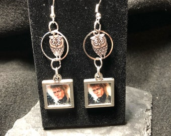Bowie/labyrinth owl earings