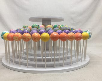 Round Cake Pop Stand With Elevated Platform For Cake Topper or Cutting Cake.  Custom Made Sizes And Shapes.