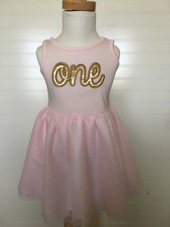One two three gold Birthday girls tutu dress, pink and gold one birthday, gold pink birthday, sparkly gold girls birthday shirt, embroidery