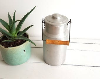 Farmhouse country style old milk can