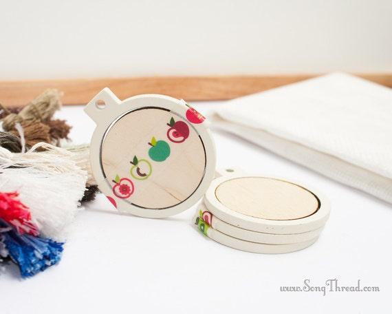 1 69 Inch Cream Mini Embroidery Hoop Tiny Miniature