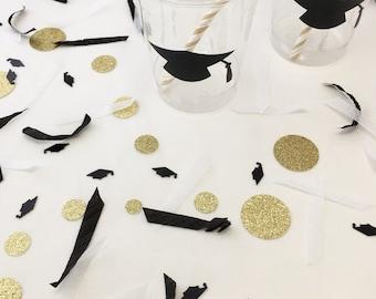 Grad Confetti - Gold Confetti - School Spirit - College Graduation - Grad Confetti - Graduation Party Supplies - Graduation Party Decor