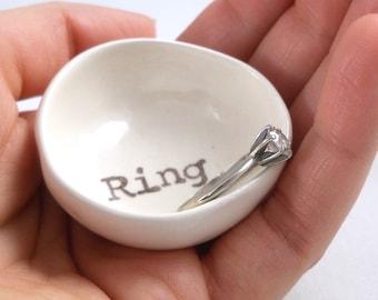 HANDMADE RING HOLDER from daughter gift for wife bridal shower gift for her wedding ring holder engagement ring dish ceramic ring holder