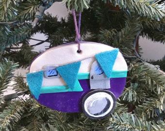 Retro Clay Camper Ornament