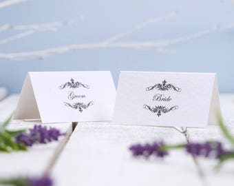 Wedding Place Cards | Wedding Place Names | Tented Place Cards | Place Cards | Seating Cards | Event Cards | Printed Name Cards