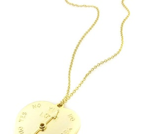 Birdhouse Jewelry  - Gold Spinning Heart Necklace