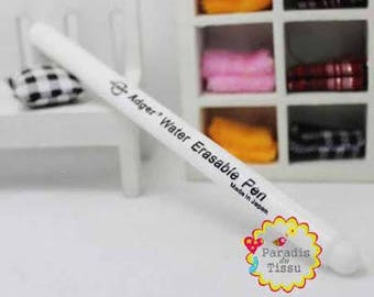 1 x white water erasable fabric marker pen