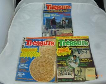 Vintage Treasure Magazines 1975 & 1981 Lot of 3 Magazines