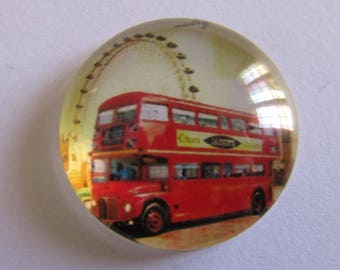 glass 25mm theme England 1cabochon