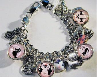 Cat Inspired Charm Bracelet OOAK