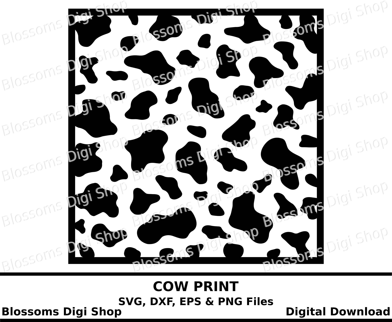 Cow print svg, digital download, animal print template, eps vector ...
