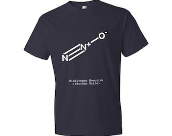 Nitrous Oxide Molecule N2O T-Shirt Science, Nitrous, Racing, Chemistry, Dentist, Science T-shirt, Gift