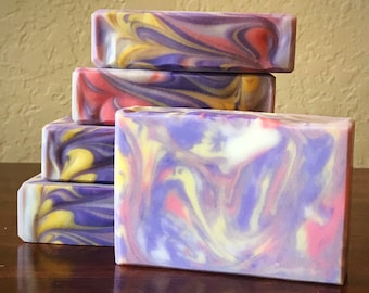 Bird of Paradise - handcrafted soap bar | Jasmine Scented |made with Shea Butter & Kaolin | Luxurious Lovely | Bath Beauty | handmade soaps
