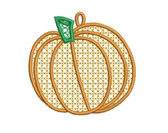 pumpkin FSL embroidery design