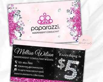 Paparazzi business cards etsy paparazzi business cards free personalized paparazzi jewelry consultant cardglitter for vistaprint reheart Choice Image