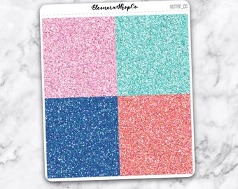 GLITTER HEADER stickers, 28 planner stickers for Erin Condren — (glitter_05)