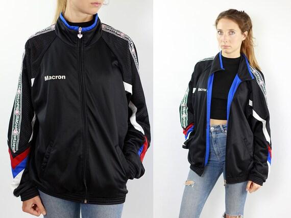Macron Windbreaker Vintage Windbreaker 90s Macron Jacket Windbreaker Macron Track Jacket 90s Jacket Vintage Shell Jacket Macron Shell Jacket