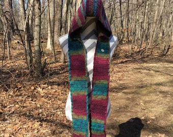 Scoodies - Hooded Scarf with Pocket - Scarf with Hood - Scarf Hoodie - Winter Scarf - Gift for Her - Christmas Gifts - Gift for Women