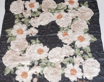 Vintage 1960s Nina Ricci  Silk Scarf  Rolled Edges Made in ITALY
