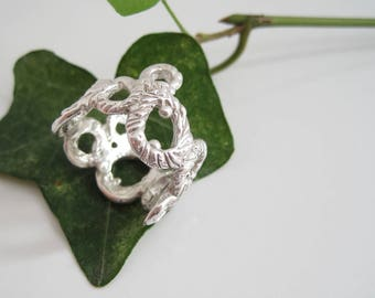 "Sterling silver bubble ring ""Schiuma"""