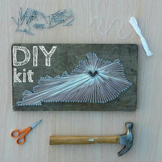 DIY Kentucky String Art Kit, State string Art Kit, Kentucky Nail Art ...