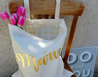 request witness bag - will you be my best man? - totebag witness - bag bachelorette party - bachelorette party - bride gift present