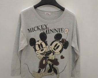 Vintage Mickey Loves Minnie Mouse Sweater Sweatshirt