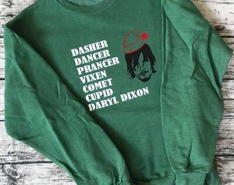 Daryl Dixon Christmas Sweatshirt - The Walking Dead