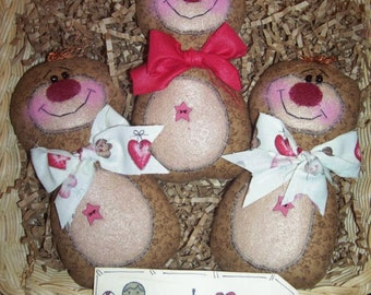 Primitive Whimsical Country GINGERBREAD Dolls Tucks Bowl Fillers Ornies