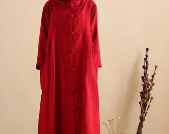 Loose Fitting Linen Shirt Blouse for Women  - Women Top- Women Clothing