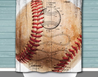 Shower Curtain And More   Baseball Baseball Patent Sports Bathroom | See  Dropdown For Pricing And