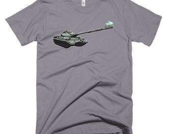 Toothbrush Tank on US Made American Apparel tshirt