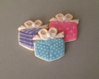 Present / Christmas Gift Sugar Cookies