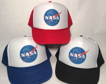 NASA Trucker Hat Meatball Insignia Space Program Moon Mesh Cap