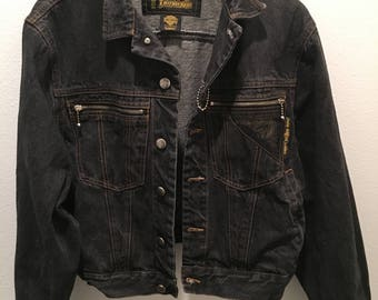 Authentic Vintage Harley Davidson's Jeans Jacket