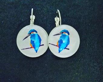 Earrings in silver 'birds'