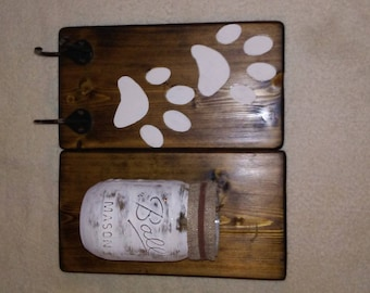 Dog Lovers dream holds your best friends leash and favorite treats