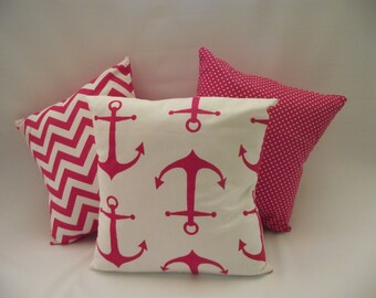 Pink Nautical Anchors (PICK TWO)