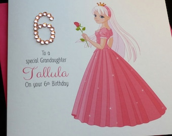 Pretty Pink Princess Birthday Card