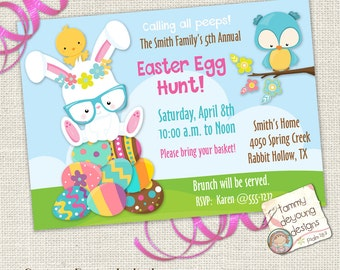 Printable Easter Egg Hunt Invitation, Easter Party for Kids, Printable Easter Invite, Easter Evite, Breakfast with Easter Bunny Party