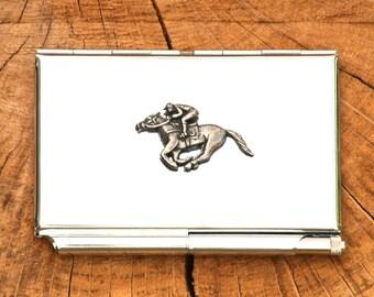 Horse Racing Credit Card Holder Notepad Gift